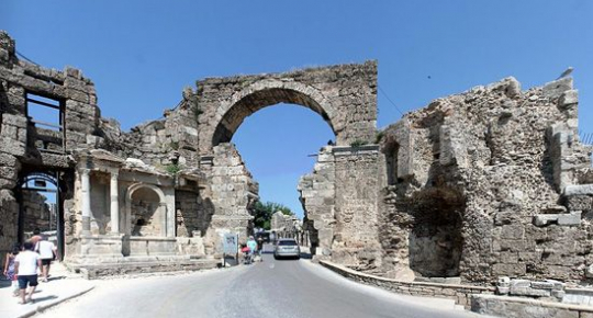 ancient city of side antalya